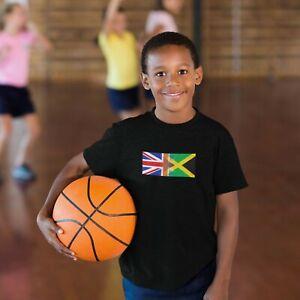 Childrens England & Jamaica Tshirt, Mixed Race, Kids Tees, Birthday, Christmas