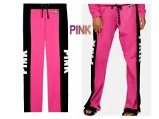 New Victoria Secret PINK Graphics BOYFRIEND SWEAT PANTS  S