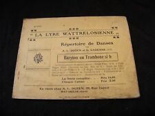 Partition La lyre wattrelosienne baryton ou trombone si b