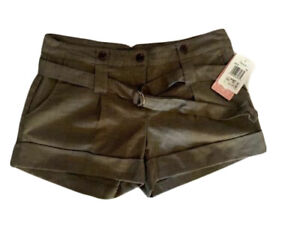 Fleurish Women's Cuffed Shorts Polyester Blend Taupe Size 7