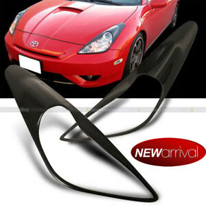 For 00-05 Toyota Celica Glossy Black Eyelid Eyebrow Headlight Cover lid brow