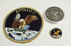 Apollo 11 Coin Contains Metal Flown To Moon Patch Pin Medallion NASA Space
