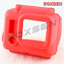 Soft Silicone Rubber Case Cover Protector for GoPro HD Hero 3 camera red color