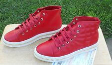 High Top Gold Chain Fashion Sneakers Boots Shoes High Tops Red $540 China Import