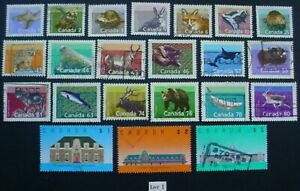 1988 CANADA: MAMMALS & ARCHITECTURE: SET OF 22 USED STAMPS: LOT 1