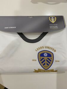 Leeds United 2019/20 Centenary Home Shirt Gym/PE Bag. BNWT. Xmas Stocking Filler