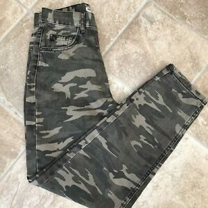 Pull&Bear Denim Collection ladies Green Camouflage Jeans Size10? EUR 34