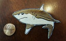"SHARK embroidered iron on Patch HIGH QUALITY  3"" x 2"" SEA OCEAN CREATURES"