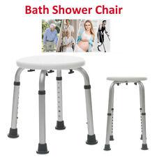 Adjustable Non-Slip Medical Round Shower Chair Bathtub Bench Bath Seat Aid Stool