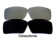 Galaxy Replacement Lenses For Oakley Big Taco Black&Gray Polarized 2Pairs