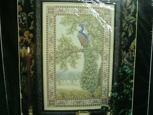 NEW unused Leisure Arts PEACOCK TAPESTRY Counted Cross Stitch Kit #113837 Opened