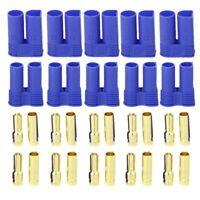 5 Pairs of EC5 Banana Plug Bullet Connector Female+Male for RC ESC LIPO F2J6