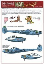 NEW 1:48 Kits World Decals 48206 Lockheed P-38L Lightning's of the Pacific Set 1