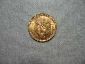 1945 Mexican DOS Y MEDIO PESOS Restrike Coin - 90% Gold - .0603 troy ounces