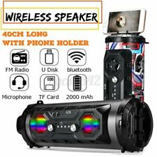 US LED Wireless Portable bluetooth Speaker Stereo Super Bass HIFI AUX FM Sondbar