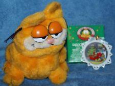 Vintage Garfield Christmas Ornament and Plush