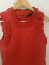 French Connection FCUK Silk Ruffle Neck Blouse Size 4