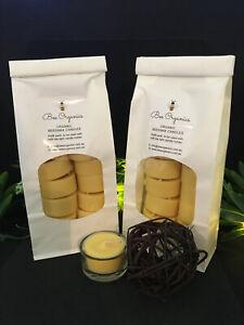 24 Australian Handmade Organic Beeswax Tealight Candles + 1 Glass Case
