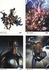 Marvel Universe 2014; Upper Deck; 4 Card Artist Draft Cards (1:12 packs)