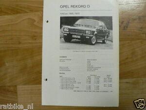 O03-OPEL REKORD D 1700 EN 1900 1972 TECHNICAL INFO