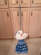 HANDMADE MOTHER GOOSE COVERED BROOM -- GREAT FOR PART OF HALLOWEEN COSTUME