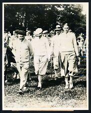"1929 Horton Smith, ""Takes on George Duncan & Arraud Massy"" Vintage Photo"