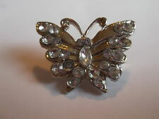 Butterfly White Costume Brooches & Pins