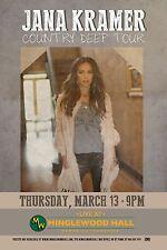 "JANA KRAMER ""COUNTRY DEEP TOUR"" 2014 MEMPHIS CONCERT POSTER - Country Music"