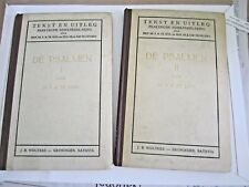 (1946) de psalmen  tekst en uitleg (The psalms text & explanation) Bohl  2 vols