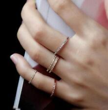 Fashion Silver&Rose gold White Topaz Eternity Wedding Ring Women's Jewelry/ZONE