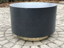 Mid Century Modern Drum Side Table In Style Of Milo Baughman