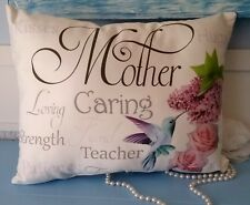 Inspirational Mother Gift Pillow w/ Hummingbird Gift For Mom, Mother's Day Gift