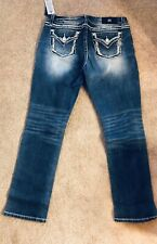 *NWT* Women's Miss Me B14ET273R Mid Rise Easy Straight Stretch Jeans Size 31x31