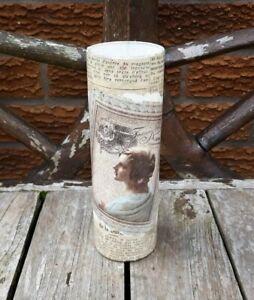 Shabby chic vase, handmade, vintage French