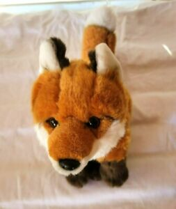 FAO Schwartz Sitting Red Fox Stuffed Plush Animal EUC