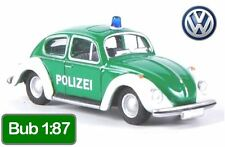 Bub VW Police 1:87 - Volkswagen Beetle 1302 Kafer - Bubmobil Euro Polizei