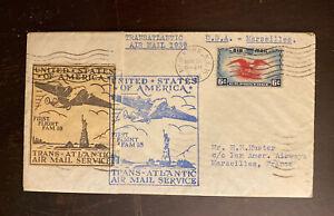 1939 Round Trip FFC AAMC FAM F18-1, F18-6. New York-Marseilles-New york 105-34