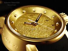 Invicta Men's S1 Yakuza Dragon 24J Automatic 18K Matte Gold IP Brown Strap Watch