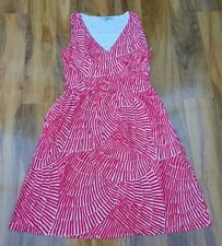 Boden Ladies GORGEOUS Red White Print Ruched Wrap Dress Size 18R BRAND NEW WW062