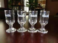 Republic Airlines, Liqueur/Cordial Four (4) Glasses made Between1979-1986