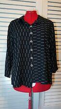 New HABITAT Black STUNNING XL button down asymmetrical Jacket blouse