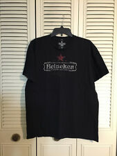 Men's Heineken Beer Black Licensed T Shirt Distressed Graphic Logo Lager Size Xl