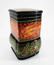 "Russian Lacquer box Palekh ""The Firebird"" Spring Stove Hand Painted #105-2"