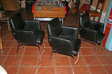 Fauteuil industriel  noir design 1950  meuble  industriel decoration