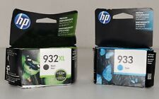 HP Genuine 932XL High Yield Black Exp 11/20 and Cyan Exp 10/20 933 Ink Brand New