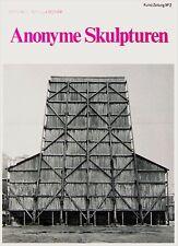 Bernd und Hilla Becher, Anonyme Skulpturen,  Kunst-Zeitung Nr. 2, 1969