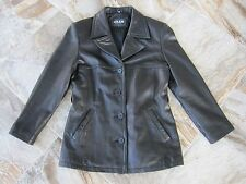 Adler Collection Black Leather Lambskin Jacket Coat Womens L Large