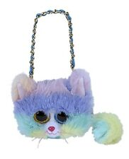 Ty Heather Cat Mini Purse Sequined.with Golden Strap 95217