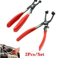 2pc Hose Clamp Jaw Pliers Tool Set Locking Flat Band Ring Spring Type Swivel Kit