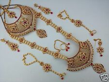 Latest Indian Bridal Wedding Designer Gold Plated Kundan Zircon Necklace Jewelry